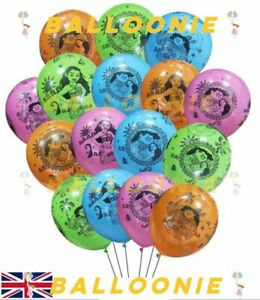 Moana Latex Birthday Party Balloons Celebrations Decoration Disney Princess Kids