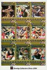 2006 AFL Teamcoach Trading Card Gold Team Set Carlton (9)