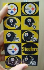 10 PITTSBURGH STEELERS GLOSSY STICKERS 2.5x5 SHEET