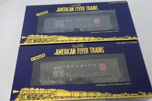 American Flyer S Gauge No.6-44108 & No.6-44109 Reading 2-Bay Hopper Cars NIB