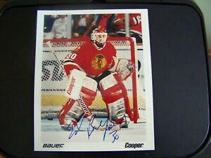 Chicago Blackhawks Ed Belfour signed Cooper Photo