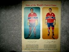 STAR WEEKLY 1957 DOUG HARVEY GEOFFRION STARS OF FASTEST GAME FULL PAGE