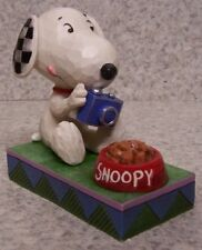 Figurine Peanuts Snoopy Photographer social media NEW Jim Shore with gift box