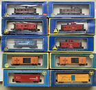 Lot of 23 Ahm Tyco HO Locomotives, Cars And Telephone Poles In Boxes. See Photos
