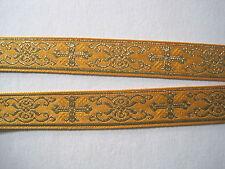 Borte  Gold Safran Kreuze Mittelalter BO-J1-1075