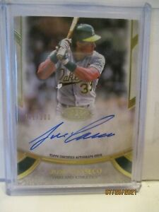 2021 TOPPS TIER ONE JOSE CANSECO PRIME PERFORMERS AUTOGRAPH #141/300-OAKLAND A's