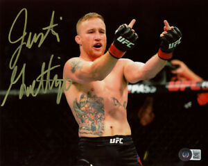 JUSTIN GAETHJE SIGNED AUTOGRAPHED 8x10 PHOTO THE HIGHLIGHT MMA UFC BECKETT BAS