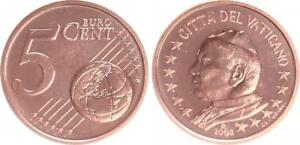 Vatikan 5 Cent 2003 Kursmünze mit Papstmotiv prägefrisch