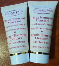 CLARINS GENTLE FOAMING CLEANSER WITH SHEA BUTTER DRY OR SENSITIVE 2 x 20ml