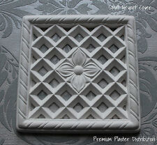 220mm X 220mm Small Plaster Air Vent Cover Victorian Design with out insect mesh