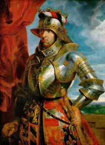 """Dream-art Oil painting 鲁本斯油画作品 马克西米连 穿盔甲的战士 Rubens maximy soldiers in armor 36"""""""""""