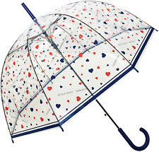 SMATI Automatic Umbrella Clear Dome See Through Transparent Birdcage Hearts for