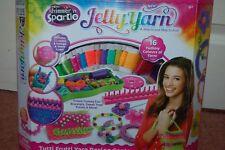 Crazart Jelly Yarn 16 Colour Yarns Lean to Knit Create Bracelets Purses & Toys