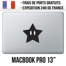 "Sticker Macbook Pro 13"" - Etoile Mario"