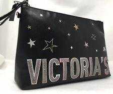 Victoria's Secret VS Celestial Star Pouch Large Makeup Bag Purse Patch Logo NEW