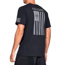 Under Armour UA Freedom Flag Logo Men's HeatGear® Cotton Black Graphite T-Shirt