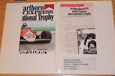 International Trophy Race Silverstone 1983 Press Pack Philippe Alliot