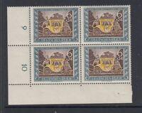 Deutsches Reich Michel-Nr. 828 als Viererblock ** postfrisch - Bogenecke