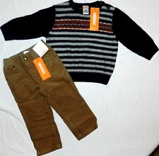 Pant Sweater Set Gymboree Brown 3pc Fall Winter Boys sz 12-18 months New