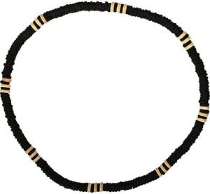 Wooden Beaded Surfer Necklace Chain Mens Womens Jewellery Kid Girls Boys Ladies