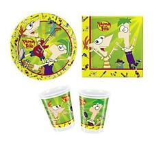 Phineas and Ferb 3 Piece Party Set - Plates, Napkins & Cups