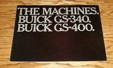 Original 1967 Buick GS-340 GS-400 Sales Brochure 67