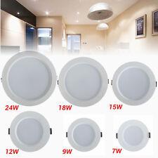 LED Recessed Ceiling Light Panel 7W/9W/12W/15W/18W/24W Round SMD LED Down Light