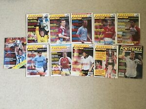 Football Monthly Magazines X11 Issues From 1988,1989,1990