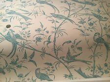 2 Rolls BRUNSCHWIG & FILS Bengali Aqua Hand Print Maison Hamot Paris Wallpaper