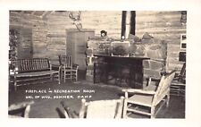 RP Postcard Fireplace Recreation Room University of Wyoming Summer Camp~125204