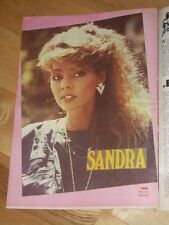 RARE PANORAMA magazine 1986 SANDRA on poster