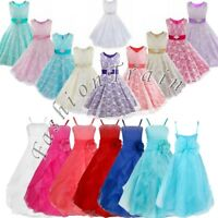 Girls Kids Party Flower Formal Wedding Bridesmaid Pageant Prom Christening Dress