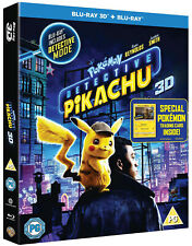 DETECTIVE PIKACHU [Blu-ray 3D + 2D] UK Exclusive 3D Release Pokemon w/ card