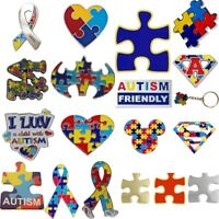 Autism Awareness Enamel Lapel Pin Badges,charity,brooches