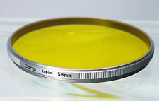 ORIGINAL VINTAGE CANON 58MM Y3 2X FILTER w/ CASE fits RANGEFINDER 85mm f/1.5