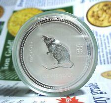 2007 / 2008 Perth Mint 1 oz Silver Lunar Year Mouse Coin S1 Australia
