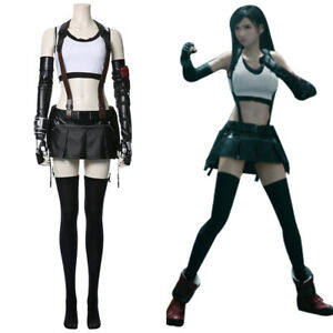 Final Fantasy VII Remake Tifa Lockhart Cosplay Costume Outfit Full Set