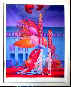 WOLFGANG HUTTER >Begutachtung des Hermaphroditen< HANDSIGNIERT, limit 50,Rahmen