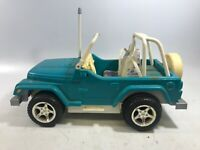 Vintage Barbie 1999 Jeep Wrangler Chrysler Blue Beach Mattel Light Up  No Remote