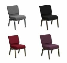"""Poker Chair: very comfortable 4"""" foam 21"""" wide seat !! Choose fabric & leg color"""