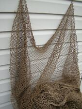Authentic Used Fish Net ~ 10' x 10' ~ Decorative Fish Netting Decor ~ Nautical