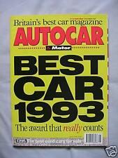 Autocar 10/11/1993 featuring Ferrari 456GT, Porsche 968, Land Rover Discovery