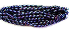 200 Blue Iris Czech Glass Rondelle Spacer Beads 4MM