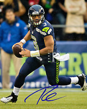 "Russell Wilson Seattle Seahawks Signed 8""x 10"" Color PHOTO REPRINT"