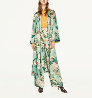 Kimono cardigan jacket Long-sleeve floral print loose casual coats new size 6-14