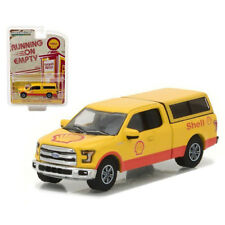 Greenlight 2016 Ford F-150 with Camper Shell Pick Up Truck Yellow 1:64 41030-E