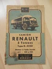 Notice d'utilisation RENAULT camion 5 tonnes type T 4220 de 1952