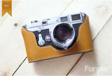 Funper Handcraft Leica M3 Camera Half Case Handmade Leather Protective Cover New