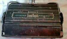 Vintage  BISSELL  Grand Rapids  Wood and Metal Floor Ball Bearing Sweeper