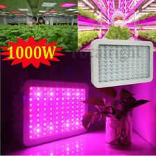 1000W Hydroponic Plant LED Grow Light Panel Full Spectrum Lamp Indoor Flower Veg